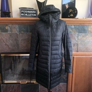 Lululemon Long Down Coat Parka Jacket Black 8